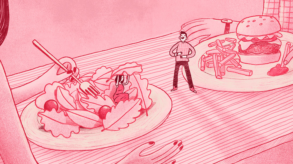 How Eating on the First Date Turns into an Invitation for Self-Criticism