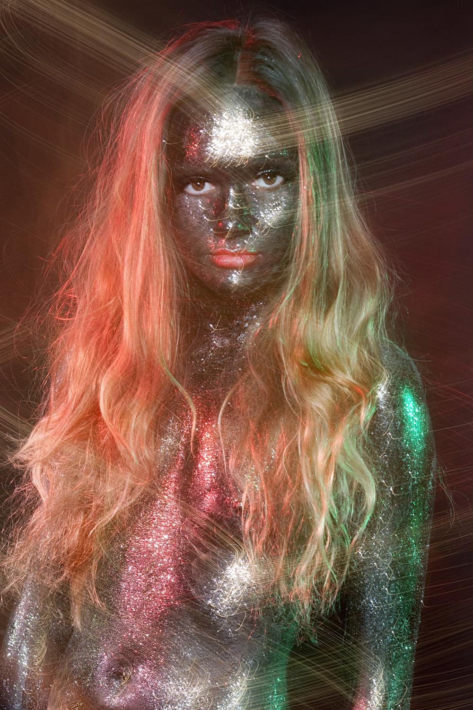 Rachael Sture Photography personal work electric beauty fashion glitter