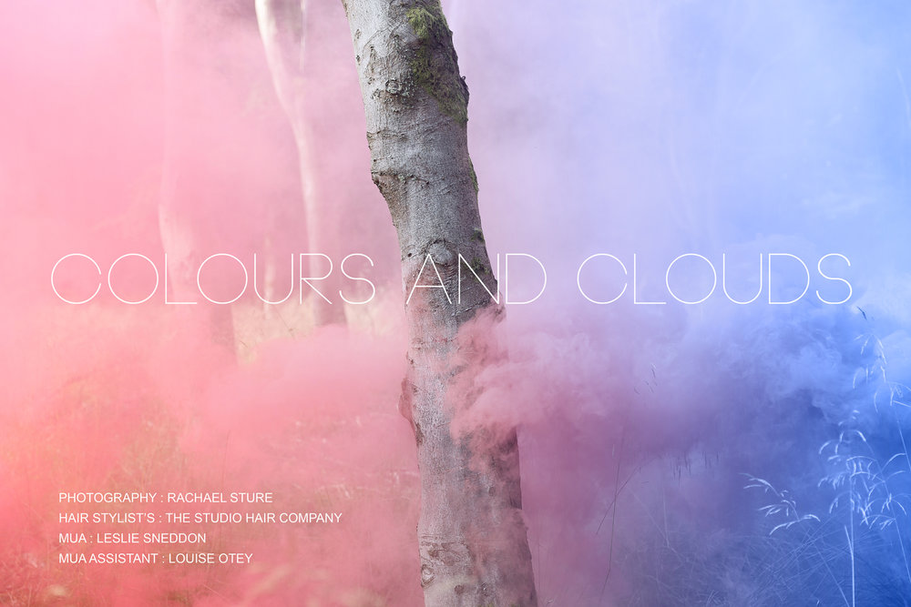 Colours and clouds smoke grenade photoshoot