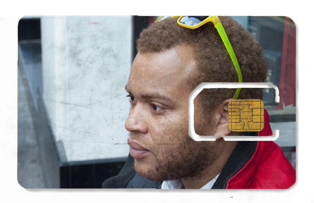 SIM Card project  (2015–) by artist Isaac Kariuki. Courtesy of Élise Atangana.