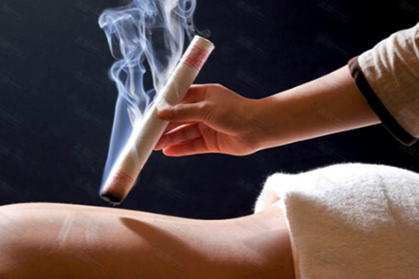 MOXIBUSTION   Moxibustion is the use of a special preparation of an herb, Artemisia or wormwood, that is placed on, or held near the body at specific acupuncture points and burned, warming the body and producing a wonderful feeling of movement and nourishment.