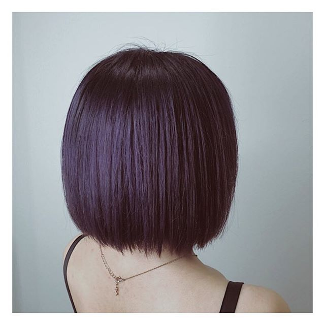 Look bold and chic with a head-turning shade of dark amethyst ⚡️ . . Hair by: Harada . . If you are a first-time customer, request for Director Stylist Harada and get 10% off all hair services! . . Simply call us at 6221 2855 to book an appointment with us today. . . #riselhair #riselhairsg #japanesesalon #amethyst #darkhair #hair #color #style #inspiration