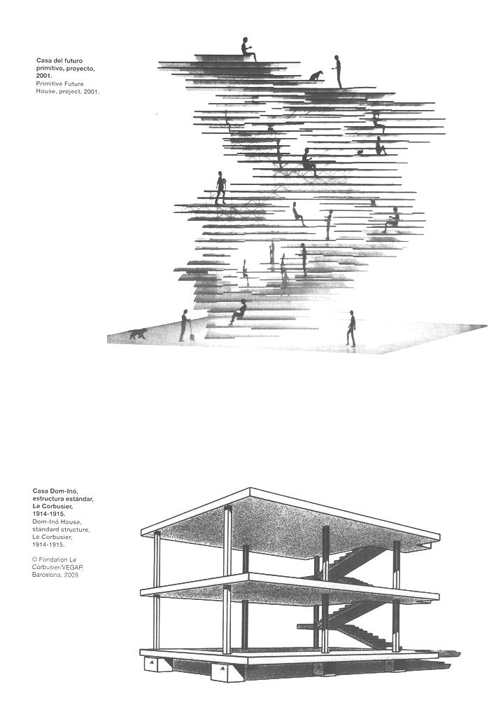 Ví dụ về cave (trên - Fuji moto) và nest (dưới - Ler Corbusie)