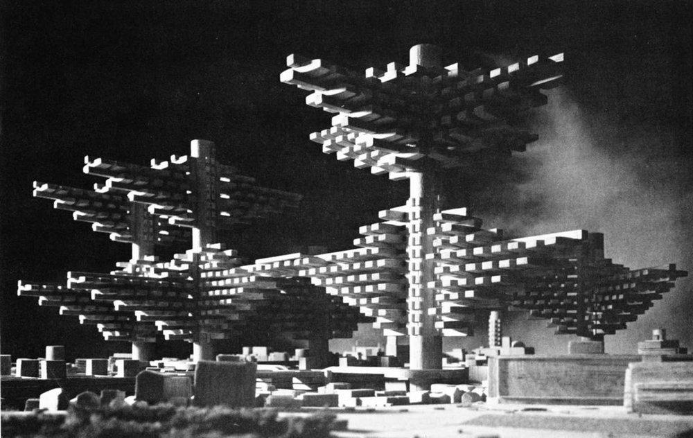 """Đồ án""""Clusters in the Sky"""" - KTS. Arata Isozaki (1962)"""