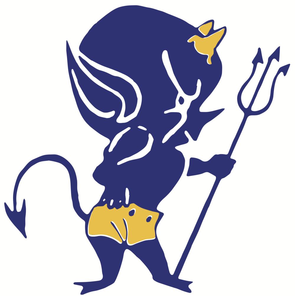 Wickliffe Blue Devil Logo Vector.png