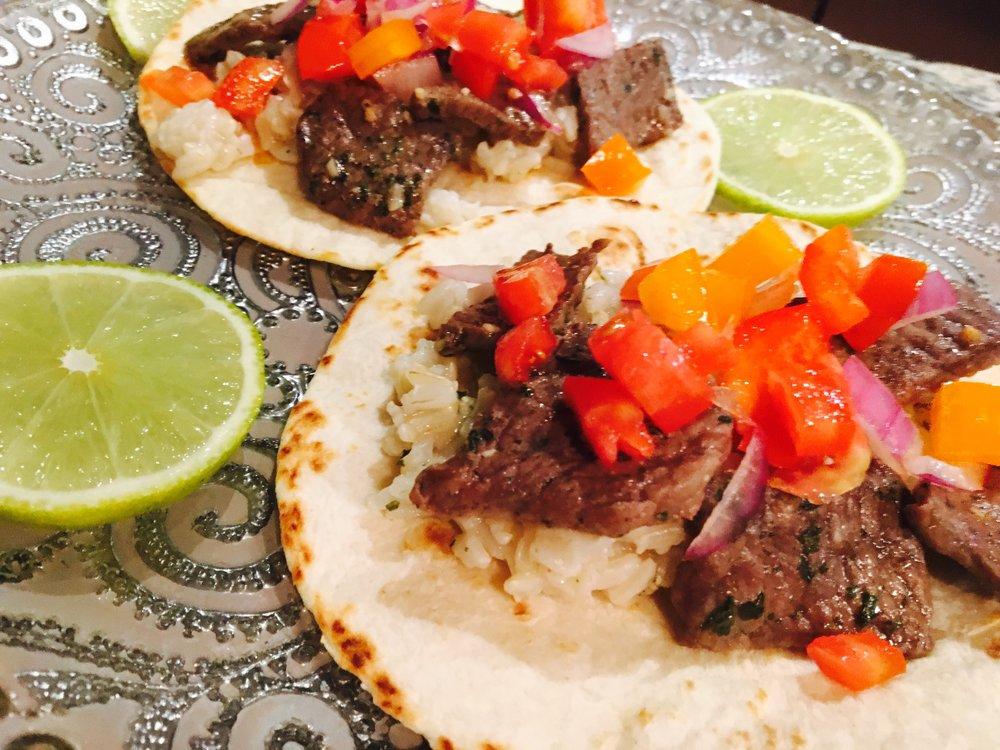 Skirt Steak Tacos with Mango Salsa