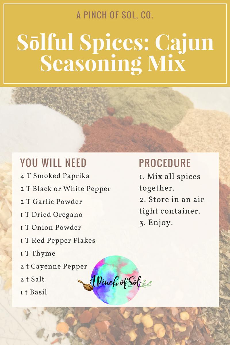 APoS: Solful Spices: Cajun Seasoning Mix