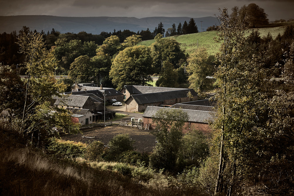 The site of the proposed visitor centre for the Ardgowan Distillery.
