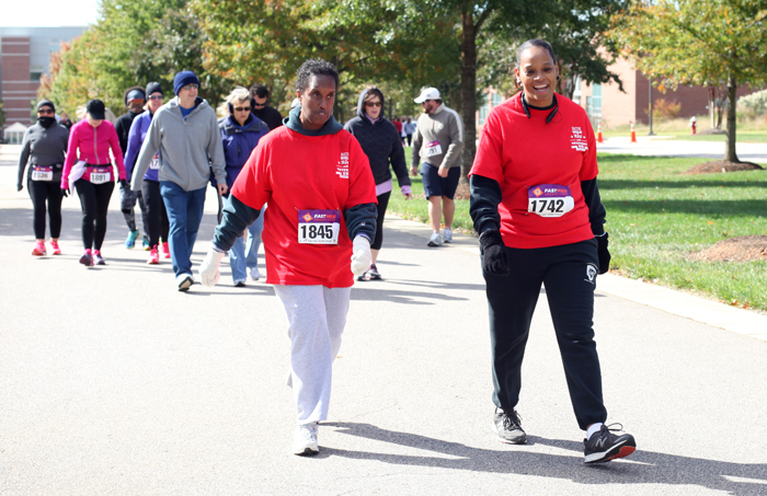 Barbara and Shay walking the 5K.