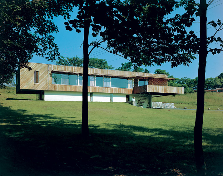 Marcel-Breuer-House Breuer II, New Canaan, Connecticut (USA), 1947 – 1948.