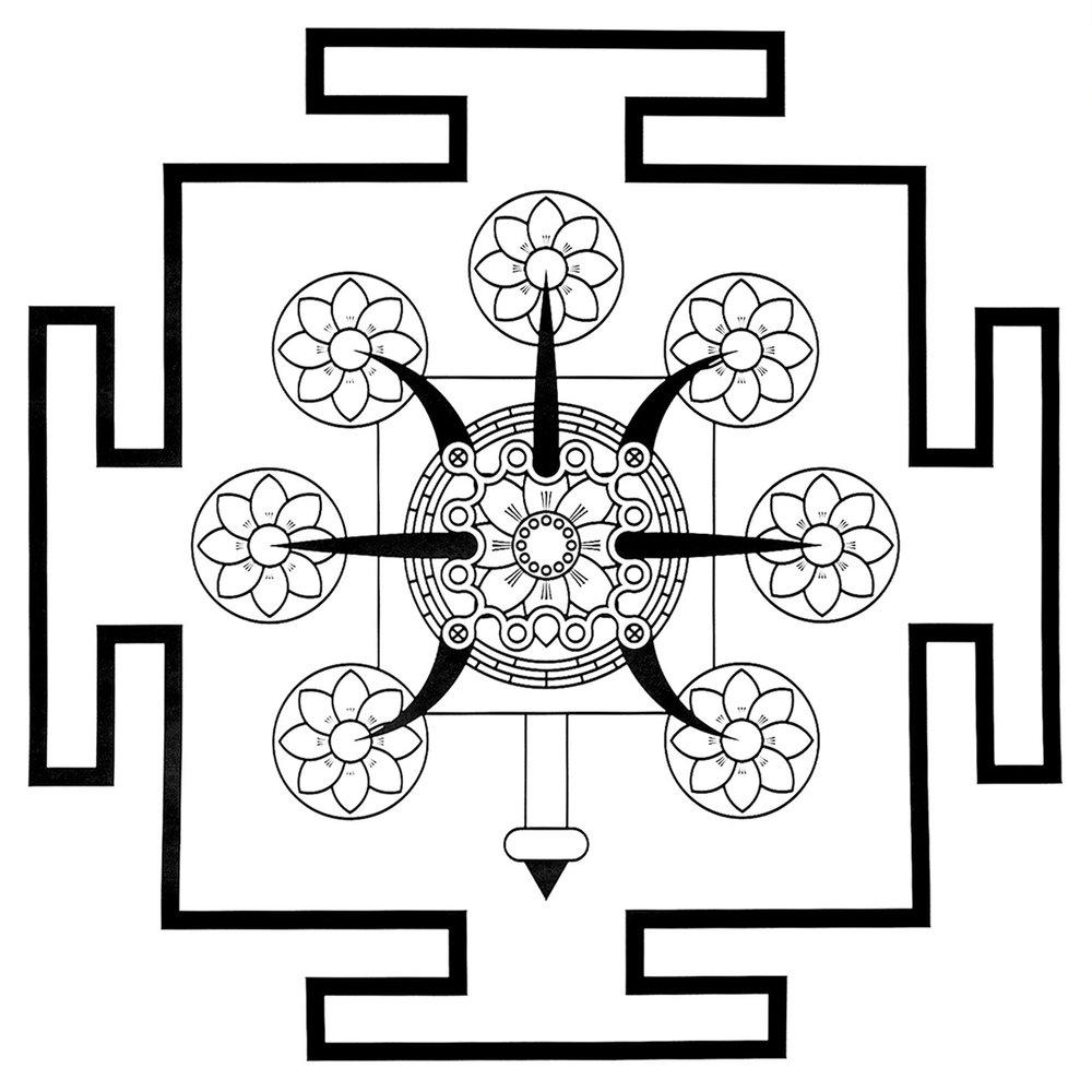 Tritrisulabija Mandalam-the-seven-lotuses-wb.jpg