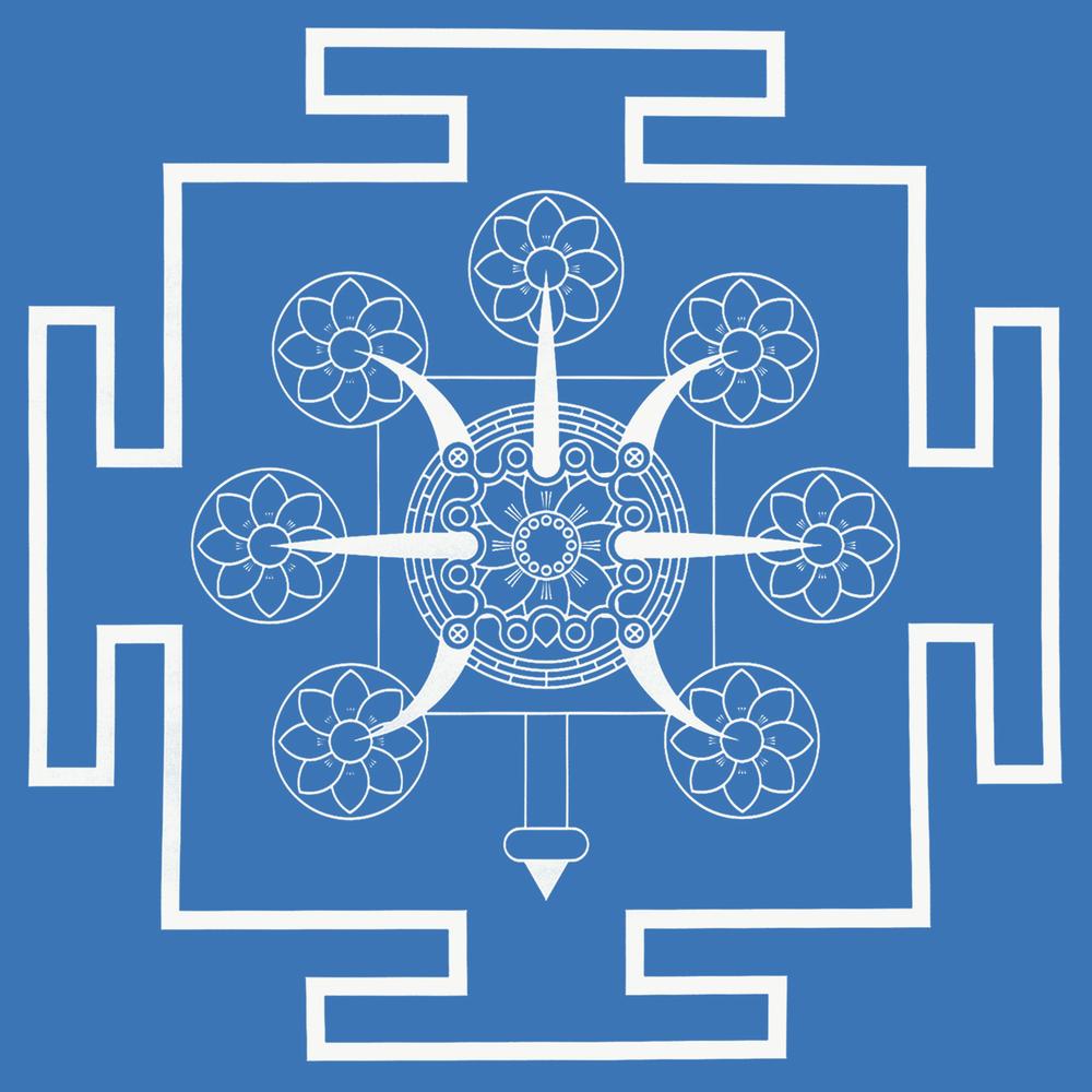 Tritrisulabija Mandalam-the-seven-lotuses-blw.png