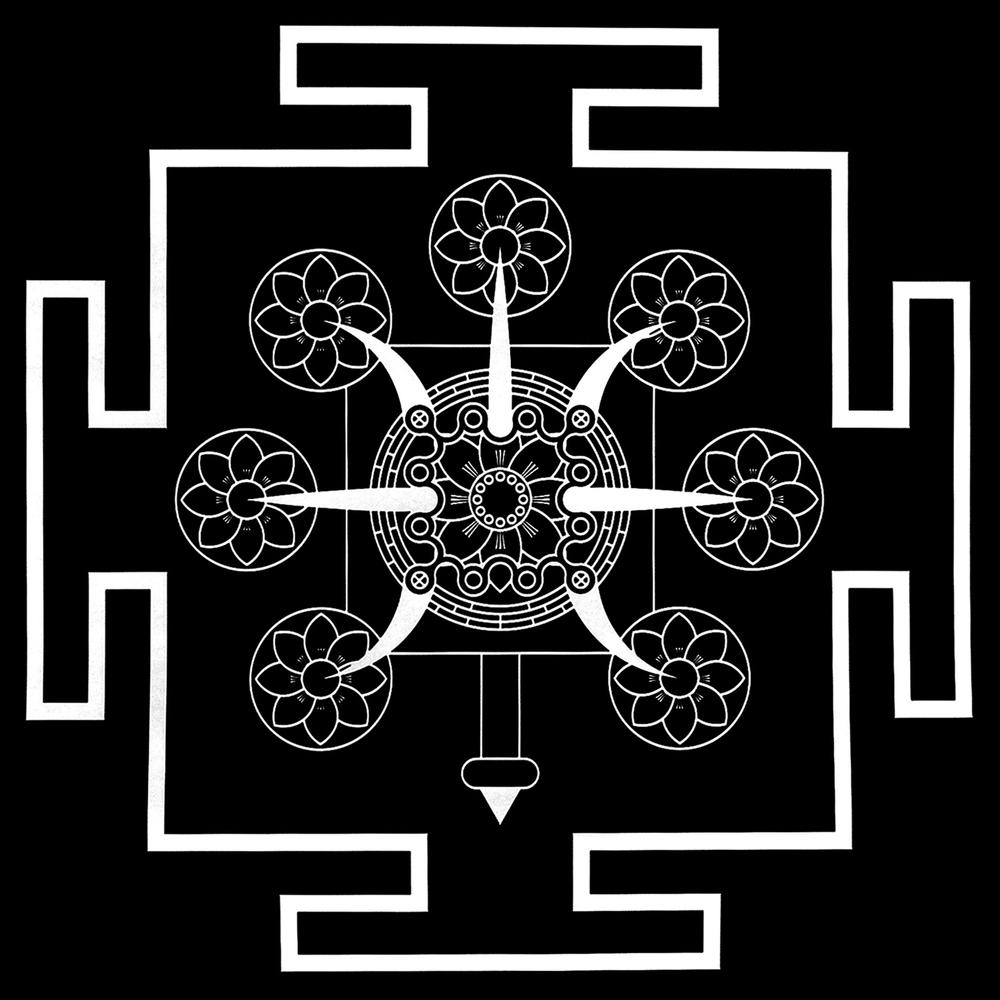 Tritrisulabija Mandalam-the-seven-lotuses-bw.png