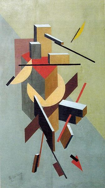 El Lissitzky : Proun. Oil on wood. 74,2 x49, 5. Private collection Leonid Sachs, United States.jpg