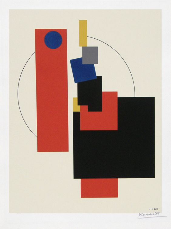 Bildarchitectur Kassak (screenprint from the portfolio of ten images) by Lajos Kassak.jpg