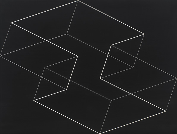 Josef Albers M-5, 1954. Machine engraving on black laminated plastic 17 × 221⁄2 in. (43.2 × 57.2 cm) 1976.8.1890.jpg