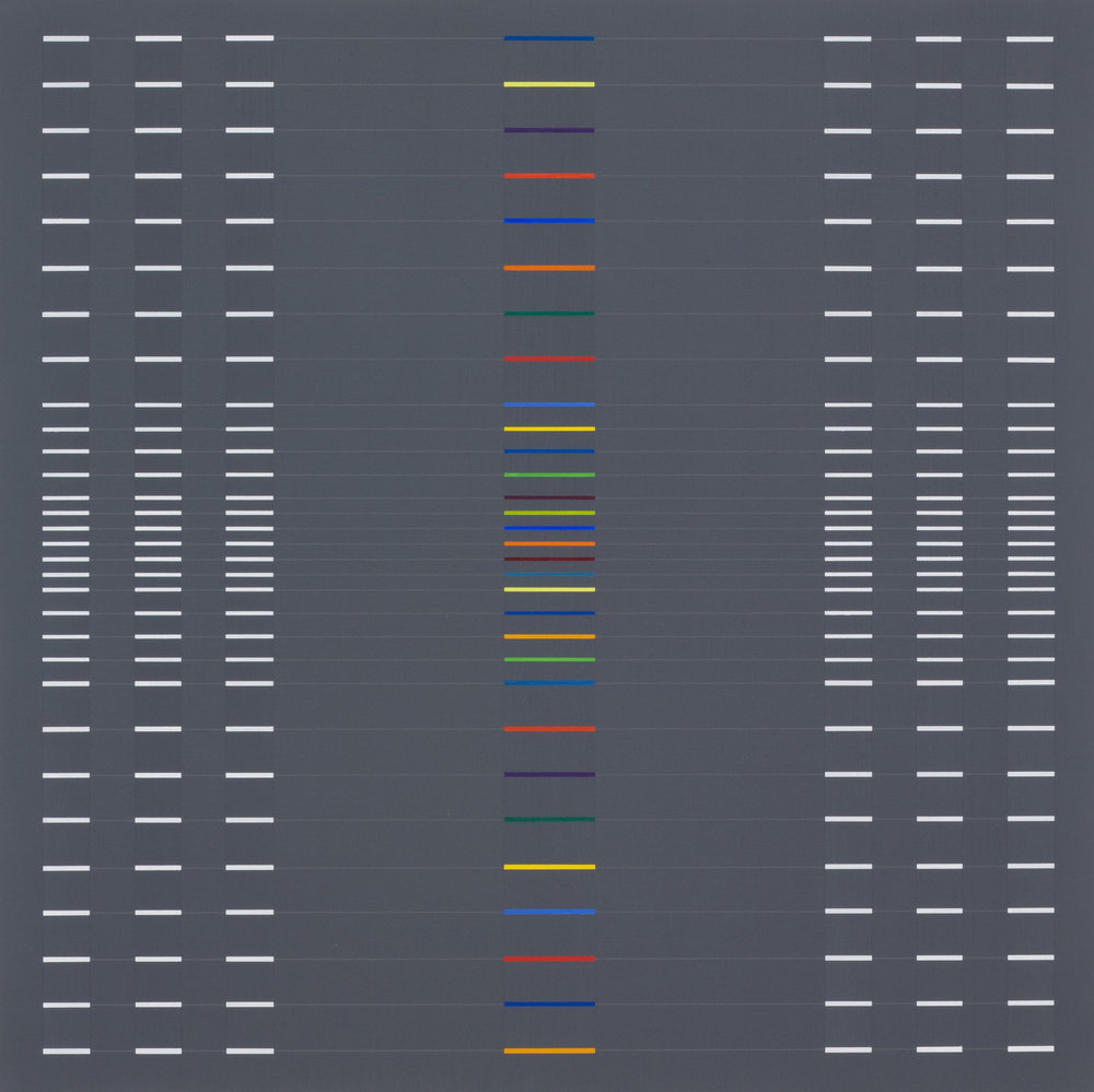Verticalis[Horizontalis]-1 2013 acrylic on canvas, wood, 17 3:4 x 17 3:4 in. [45x45cm].jpg