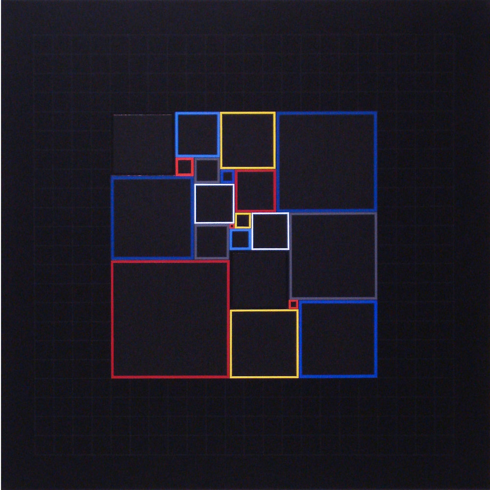 Homage to Malevich from Mondrian-[20170328], 2017, acrylic on canvas, 23 5:8 x 23 5:8 in. [60x60cm].jpg