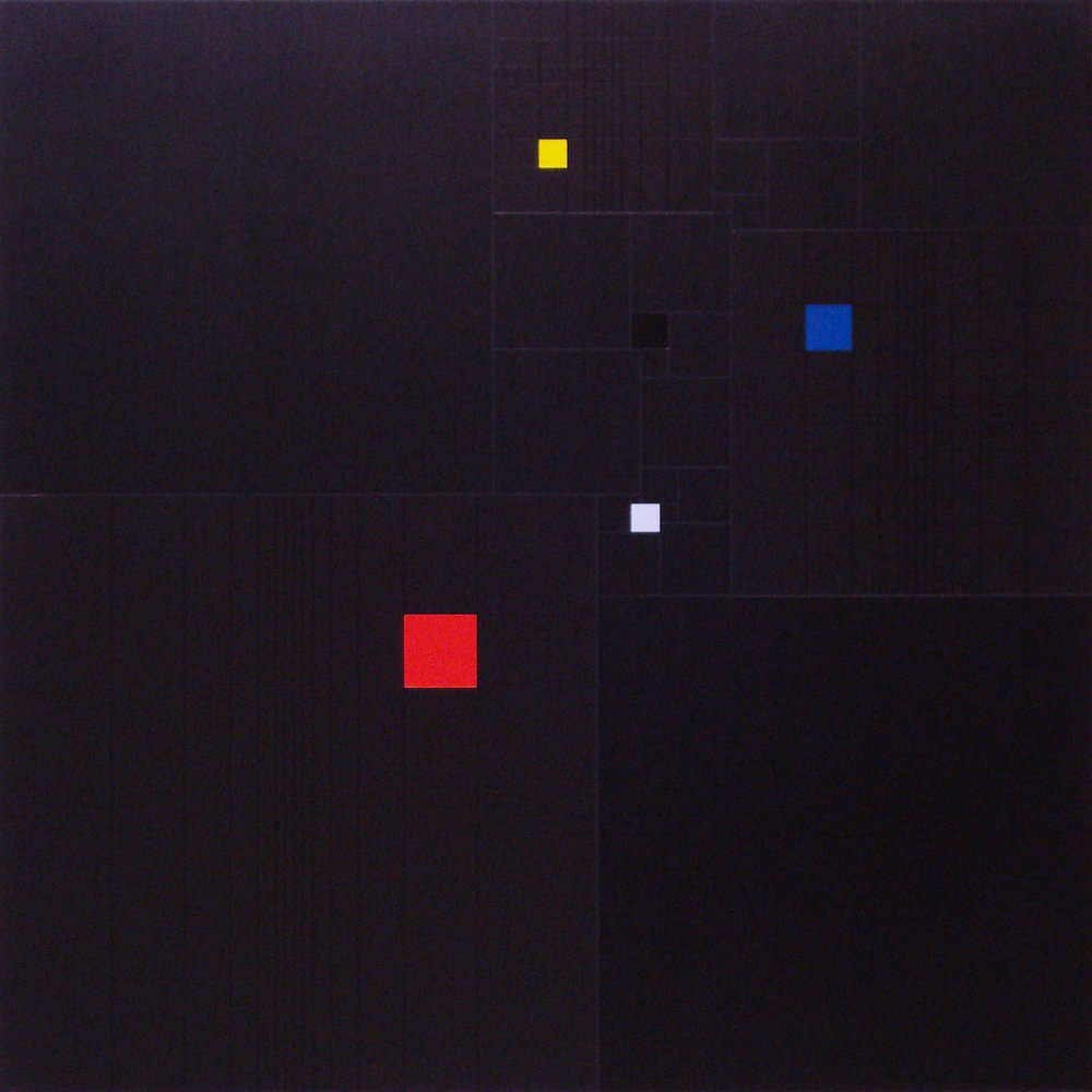 Squares in square (with-3-Fibonacci-sequence)-[20170327], 2017, acrylic on canvas, 23 5:8 x 23 5:8 in. [60x60cm].jpg