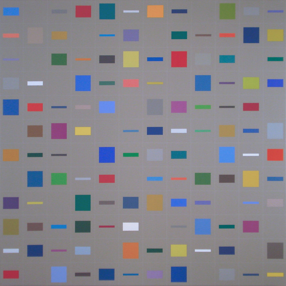 Elements in horizontal [20170402], 2017, acrylic on canvas, 35 7:16 x 35 7:16 in. [90x90cm].jpg