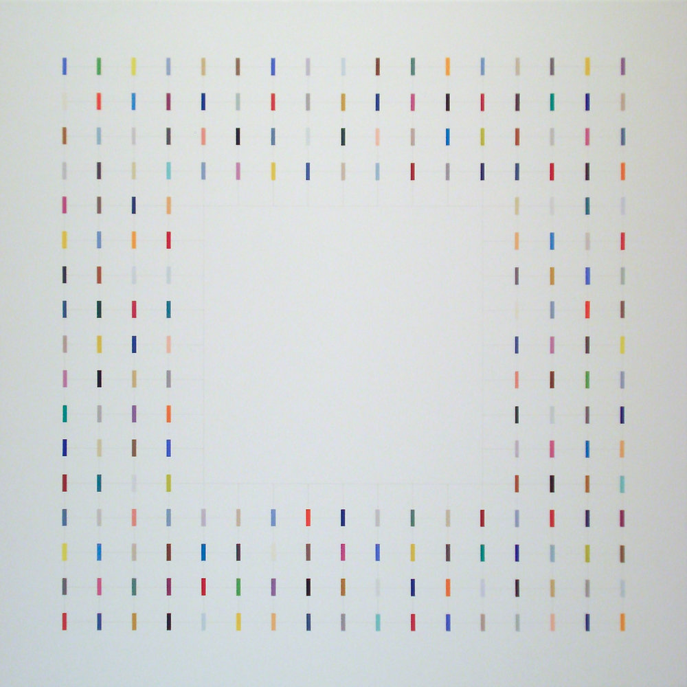 One element in centres [20170421], 2017, acrylic on canvas, 29 1:2 x 29 1:2 in. [75x75cm].jpg