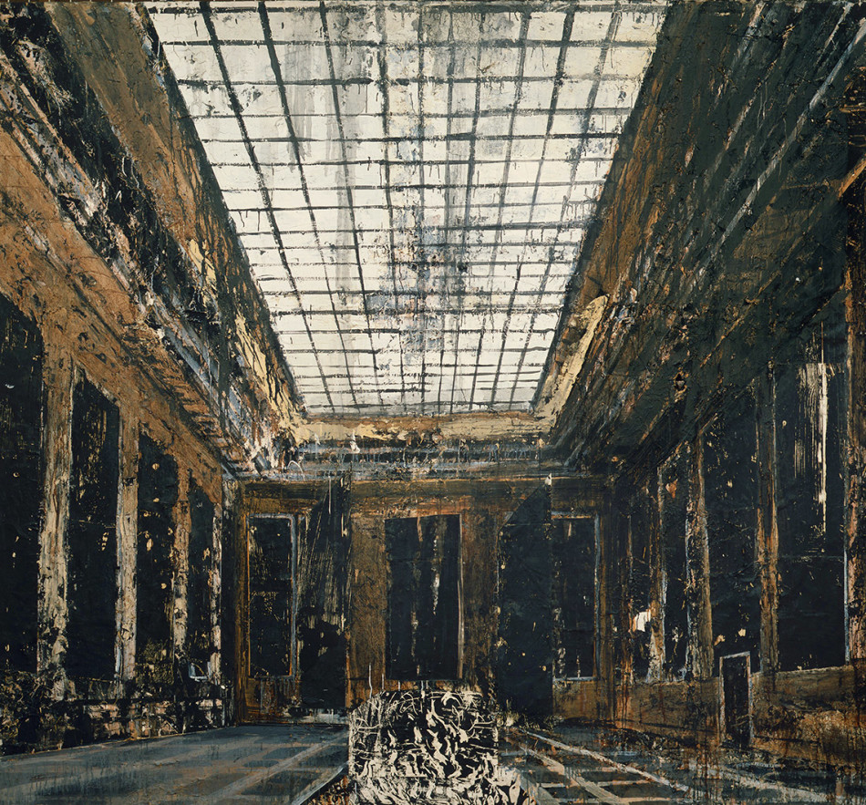 Anselm Kiefer, Interior, 1981. Oil, acrylic and paper on canvas. 287.5 x 311 cm. Collection Stedelijk Museum, Amsterdam.jpg