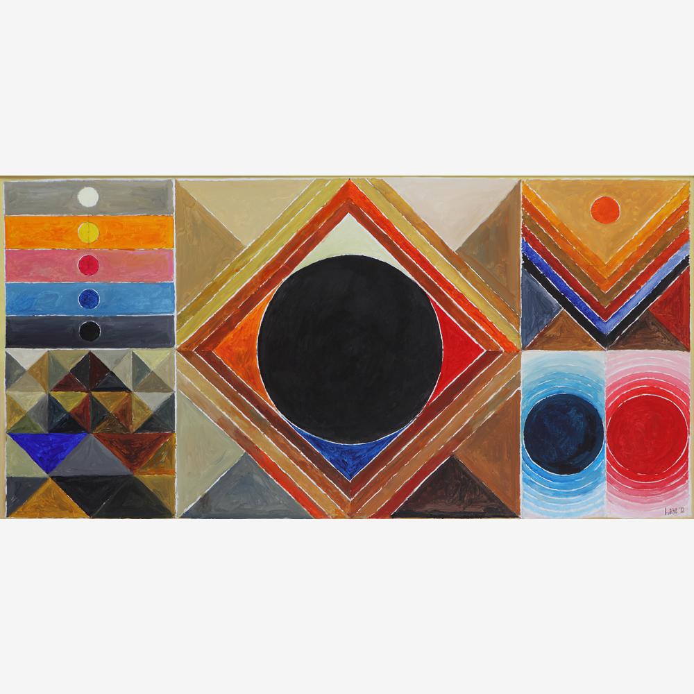 S.H. Raza (B.1922) Bindu Vistaar 2012. Acrylic on canvas 100 x 200-sq.jpg
