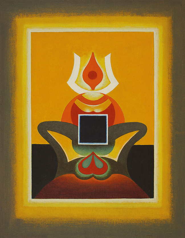 SANTOSH_Untitled, 1974, acrylic on canvas pasted on board.jpg