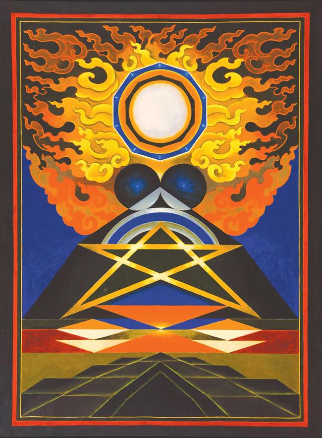 SANTOSH-Element - Fire, 1994, acrylic on canvas.jpg