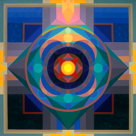 OmPrakash_Mandala Morning-2007, Acrylic on canvas 70 x 70.jpg