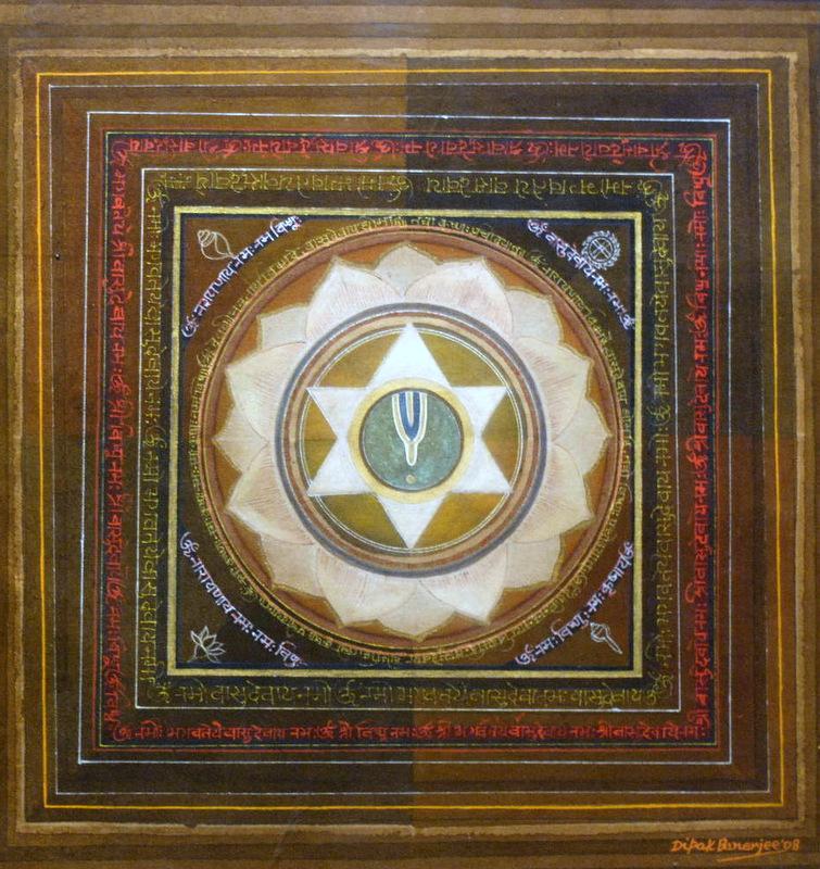 Dipak Banerjee-Vishnu_Mix Media Painting on Canvas, 22%22 x 20%22.jpg