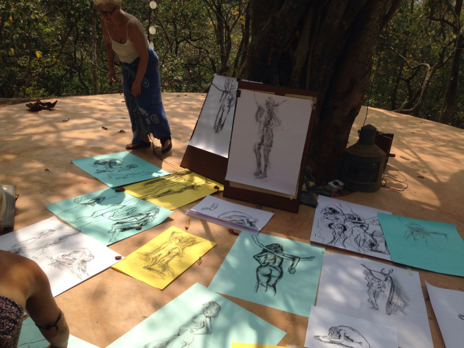 Life drawing under the banyan tree