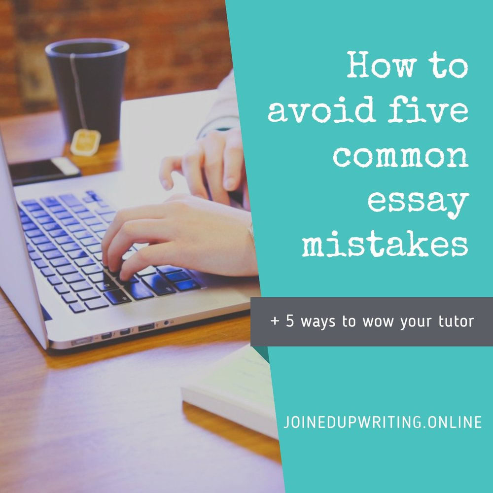 Do your essay writing errors leave your tutor in tears?