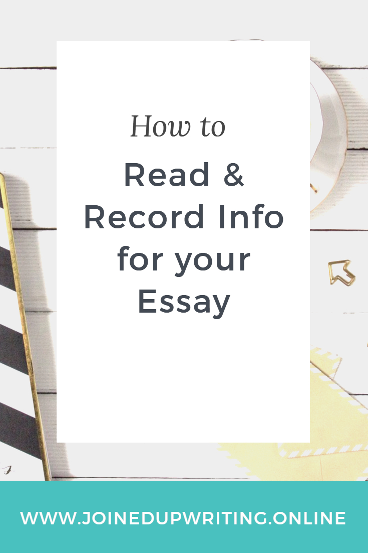 how to retrieve and record information to include in your  how to and record info for your essay