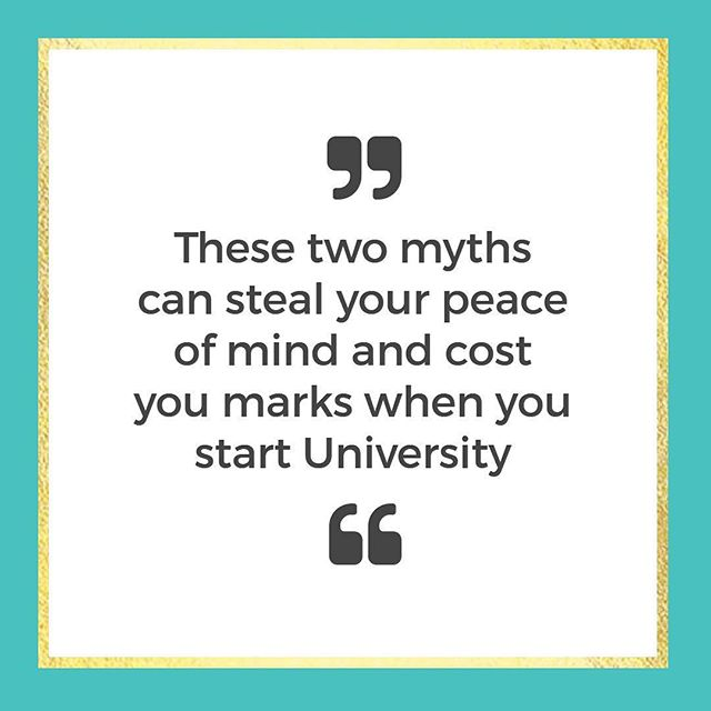 Many students starting University become unstuck  because they believe one of two myths about University study:⠀ .⠀ 1: I've got good exam results so far, so I'm going to be fine, or⠀ 2: first-year results don't count so I can figure it out as I go along⠀ .⠀ Big mistake!⠀ .⠀ Either one of these two myths will steal your peace of mind and cost you marks.⠀ .⠀ Not only do you need to acknowledge the GAP between A levels and University to bridge it effectively, you need to make this transition FAST.⠀ .⠀ You can get RAPID RESULTS and have more marks, more ease and more fun - as long as you have the RIGHT things in place.