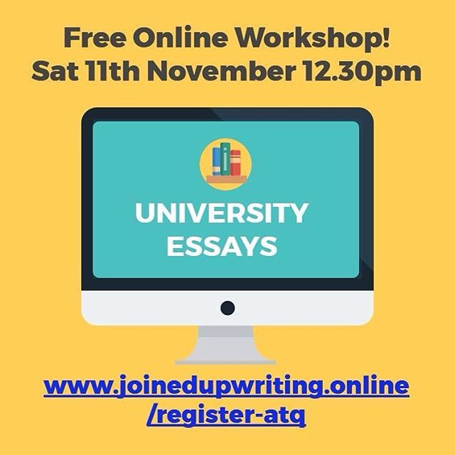 **Woohoo! Free training**⠀ .⠀ Are you tired of feeling confused and overwhelmed about essay writing? Are you struggling to understand your essay question? Do you want to start now, but don't know how? . If you want to know how to write better essays and get higher marks then register now for my FREE live essay writing workshop this Saturday 11th November at 12.30PM here! ----  www.joinedupwriting.online/register-atq .⠀ I am so excited to bring this training to you based on my experience as a university lecturer and professional writer. Don't miss it! . In the 'Answer The Question' workshop you will learn:⠀ - How to eliminate the number 1 mistake students make in their essay writing⠀ - How to understand the HIDDEN structure of essay questions⠀ - The three most common MISTAKES students make⠀ - How to break the question into COMMANDS and CONCEPTS⠀ - How to STRUCTURE your essay based on the TYPE of question you're assigned - The method to quickly and easily improve your essay marks ⠀ ...And much, much more! . Plus, you'll have a chance to get any queries answered by me in the private chat room! . What are you waiting for? Sign up now! ----  www.joinedupwriting.online/register-atq . **Giveaway** 🎉🎉Tag 3 friends in the comments below who would benefit from attending the training to be entered into a surprise giveaway to be drawn on the day! 🎉🎉 Remember, there's an amazing plan and purpose for your life. Study well, stand out and start right now!⠀ ⠀ Rachael xo
