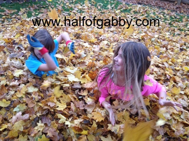 My little girls in our backyard. They love playing in leaf piles and I love watching them have so much fun.