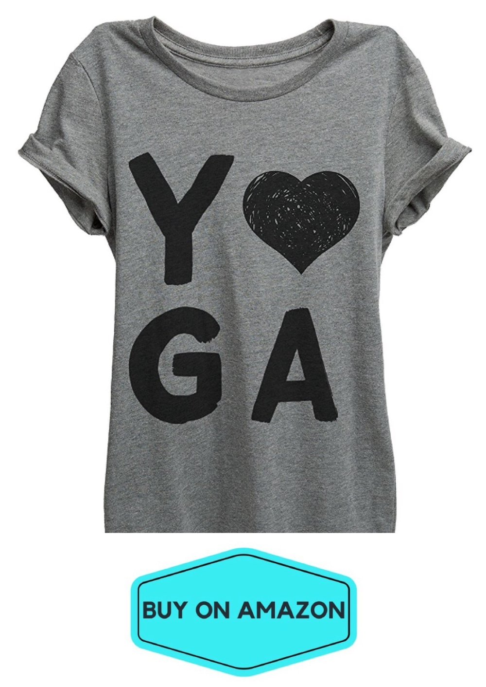 I Heart Yoga Relaxed Tee