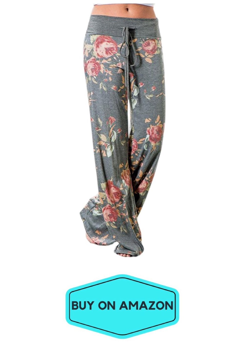 Floral Loose Yoga Trousers