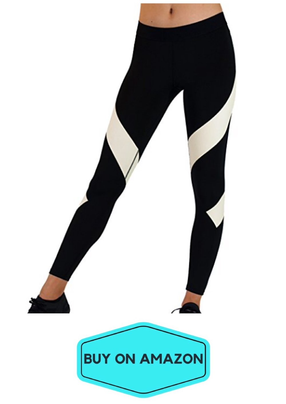 Black/White Spiral Leggings