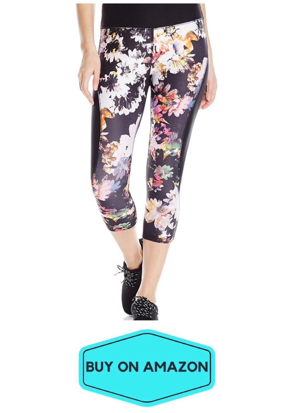 Spalding Night Flower Print Capri Leggings