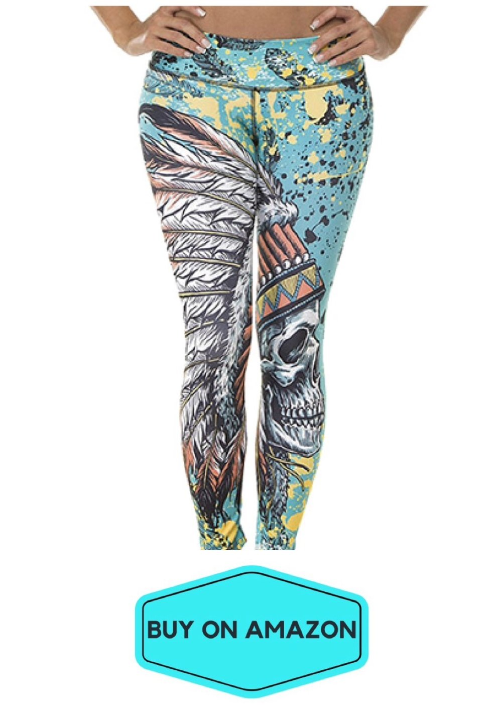 Indian/Turquoise Leggings