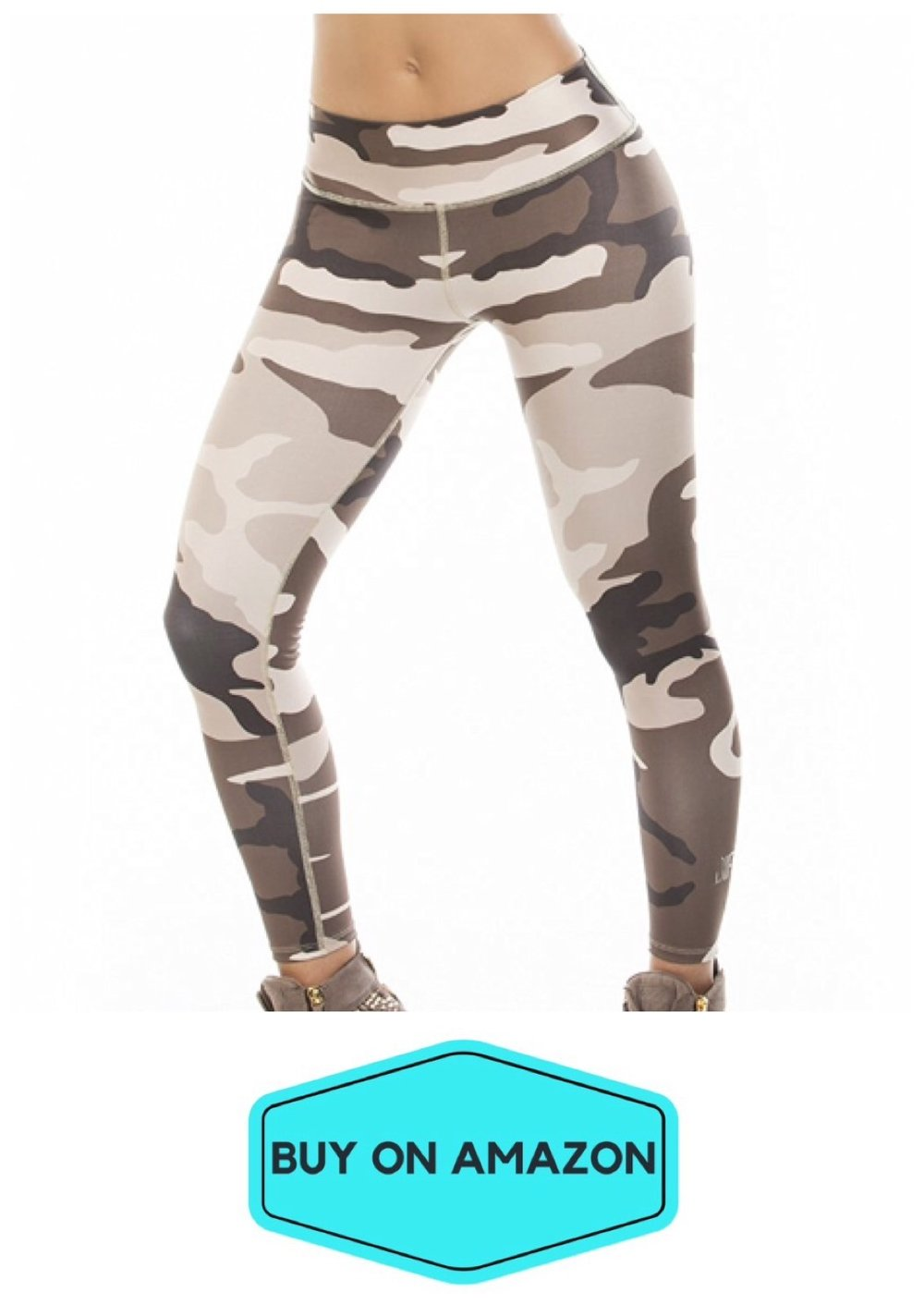 Beige Camo Leggings