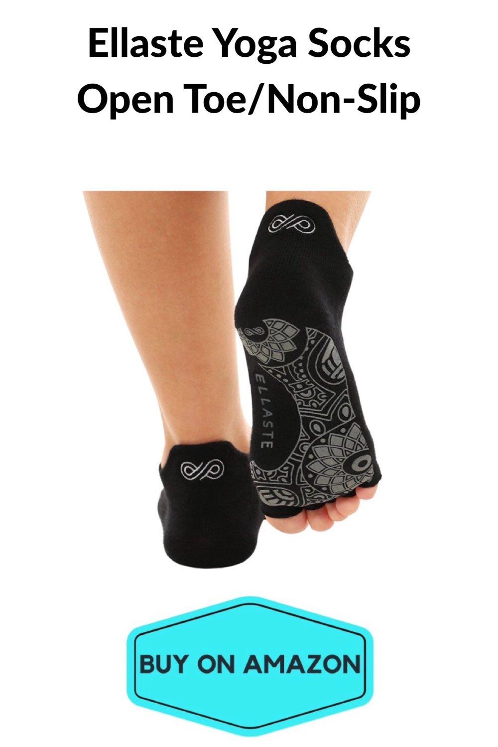 Ellaste Yoga Socks: Open Toe/Non-Slip