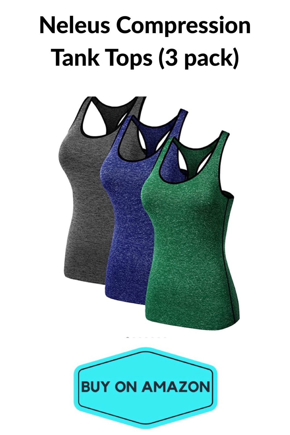 Women's Compression Tanks, 3-pack