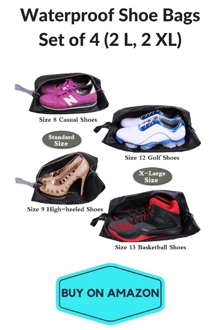 Waterproof Shoe Bags, Set of 4