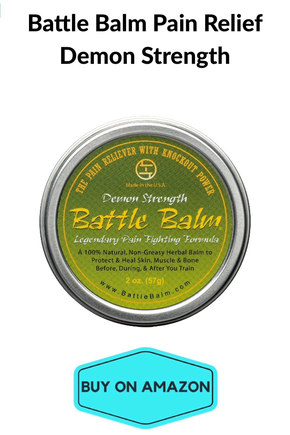 Battle Balm Pain Relief Demon Strength