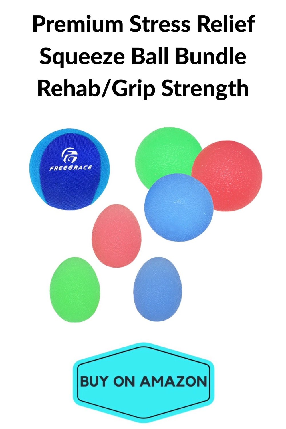Premium Stress Relief Squeeze Ball Bundle