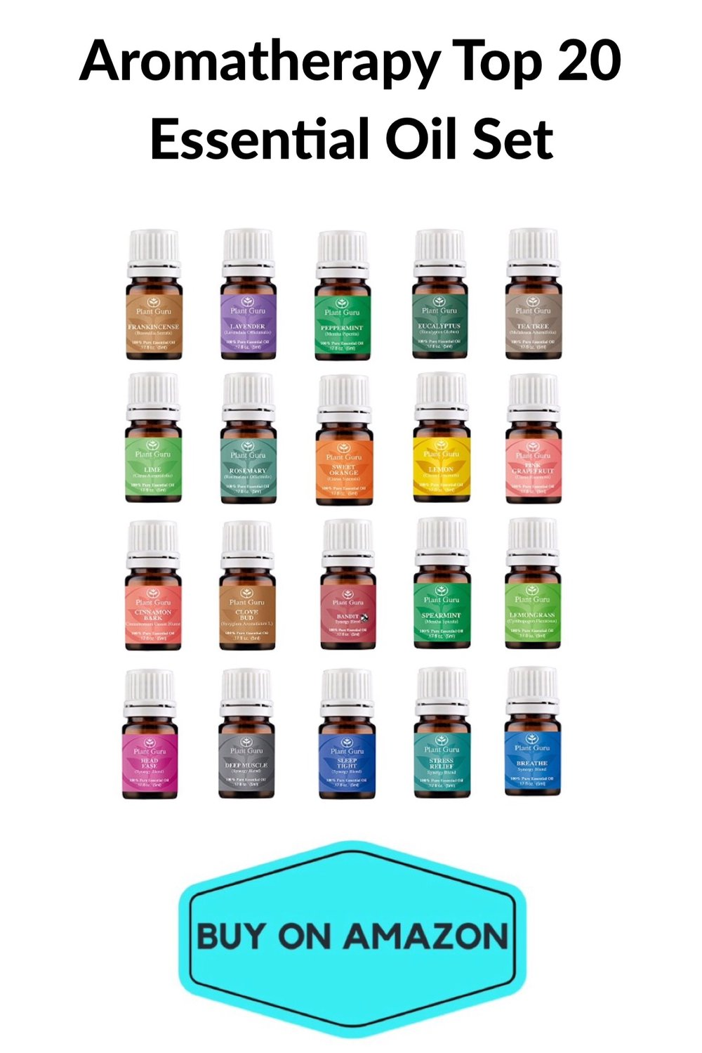 Aromatherapy Top 20 Essential Oil set