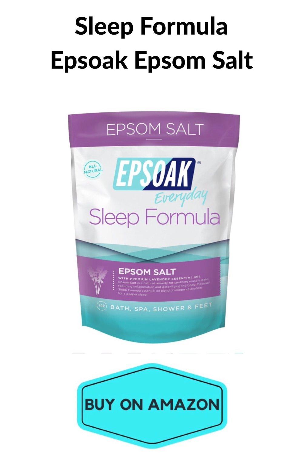 Sleep Formula Epsoak Epsom Salt, 4lbs